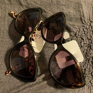 Loft Sunglasses (Two) Leopard Print and Tortoise